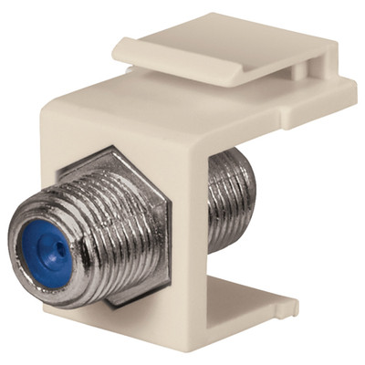 DataComm F Keystone Snap-In Connector, 2.4 GHz, Light Almond